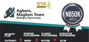 Residential Land Land for sale Vip Gardens; Agbara, Magbon Badagry Lagos