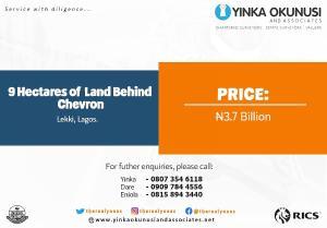 10 bedroom Mixed   Use Land Land for sale Chevron Drive, Lekki Phase 2  chevron Lekki Lagos