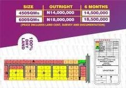 Land for sale Beechwood Estate Bogije Sangotedo Lagos