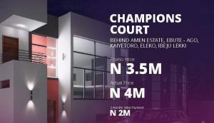 Residential Land Land for sale Champions Court; Behind Amen Estate, Ebute Ago Kaiyetoro, Eleko Ibeju-Lekki Lagos
