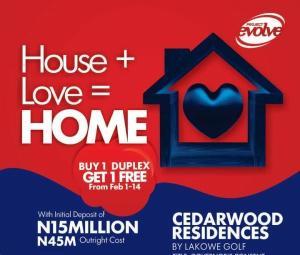 4 bedroom Detached Duplex House for sale Cedarwood Residences; By Lakowe Golf Course, Lakowe Ajah Lagos