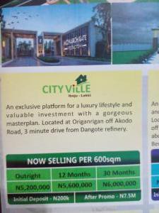Residential Land Land for sale Dangote Refinery Origanrigan Ibeju-Lekki Lagos