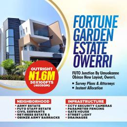 Residential Land Land for sale Fortune Garden Estate Futo Junction By Umuokanne Road Obinze New Layout Owerri Imo