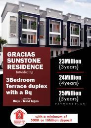 3 bedroom Terraced Duplex House for sale Ibeju lekki,Lagos  Free Trade Zone Ibeju-Lekki Lagos