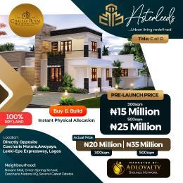 Land for sale Asterleeds estate, opposite coscharis motors  Awoyaya Ajah Lagos