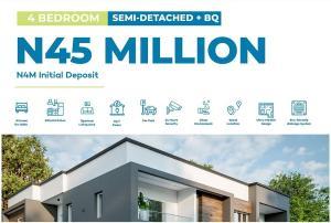4 bedroom Semi Detached Duplex House for sale Inside Abijo GRA.  4 minutes' drive from Novare Mall (ShopRite Sangotedo) Abijo Ajah Lagos