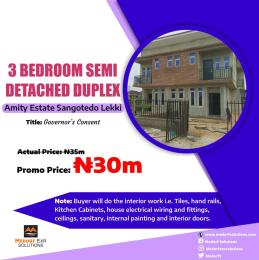 3 bedroom Semi Detached Duplex House for sale Sangotedo Lagos