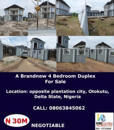 Detached Duplex House for sale Opposite plantation city,Otokutu Delta state Nigeria Warri Delta