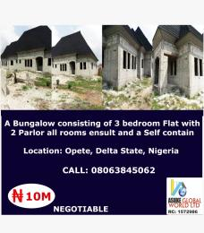 3 bedroom Detached Bungalow House for sale Opete,Delta state Nigeria Warri Delta