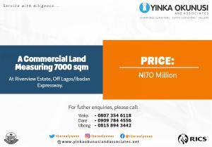 Commercial Land Land for sale Kilometer Road. Arepo Arepo Ogun