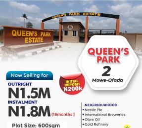 Residential Land Land for sale QUEENS PARK ESTATE 2  Mowe Obafemi Owode Ogun