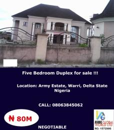 5 bedroom Terraced Duplex for sale Army Estate Warri,delta State Nigeria Warri Delta