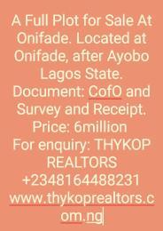 Residential Land Land for sale Onifade, after Ayobo-Ipaja Ayobo Ipaja Lagos