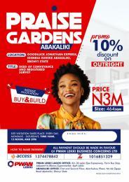 Residential Land Land for sale Praise Garden Abakaliki Abakaliki Ebonyi