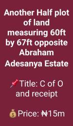 Residential Land Land for sale opposite Abraham adesanya estate Abraham adesanya estate Ajah Lagos