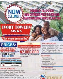Mixed   Use Land Land for sale Mgbakwu town,Akwa,Anambra State. Awka North Anambra