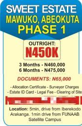 Residential Land Land for sale   Mawuko Abeokuta Ogun