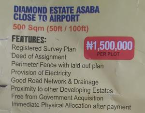 Mixed   Use Land Land for sale Diamond Estate Asaba close to Airport,Delta state Asaba Delta