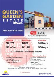Mixed   Use Land Land for sale Queen garden estate,simawa near RCCG new arena. Sagamu Sagamu Ogun