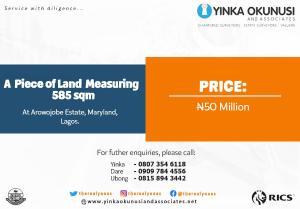 Residential Land Land for sale Arowojobe Estate. Mende Maryland Lagos