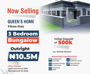 3 bedroom Shared Apartment Flat / Apartment for sale Mowe ofada,ogun state Mowe Obafemi Owode Ogun