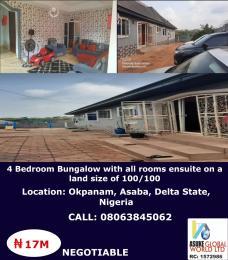 4 bedroom Detached Bungalow House for sale Okpanam Asaba Delta State Asaba Delta
