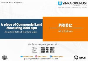 Land for sale Ikorodu Road, M aryland Maryland Lagos