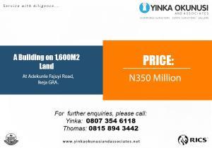 Mixed   Use Land Land for sale Adekunle Fajuyi Street Ikeja GRA Ikeja Lagos