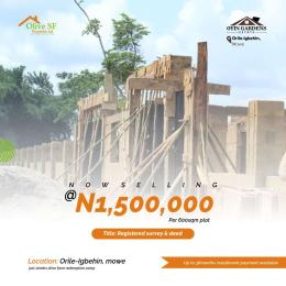 Residential Land Land for sale Mowe Arepo Arepo Ogun