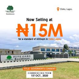 Serviced Residential Land Land for sale Five oaks residence opposite amen estate eleko Eleko Ibeju-Lekki Lagos