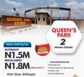 Residential Land Land for sale Queens Garden Mowe Obafemi Owode Ogun