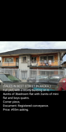 3 bedroom Blocks of Flats House for sale Akoka Akoka Yaba Lagos