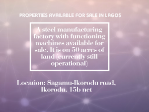 Factory Commercial Property for sale Sagamu Ikorodu Road Ikorodu Ikorodu Lagos