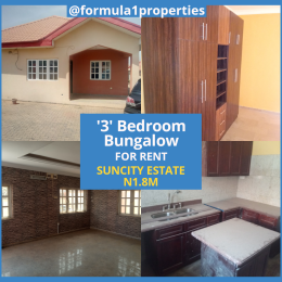 3 bedroom Detached Bungalow House for rent SUNCITY ESTATE Duboyi Abuja