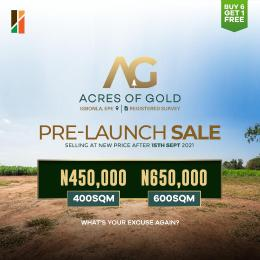 Residential Land for sale Igbonla Epe Epe Lagos