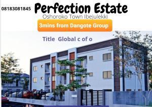 Terraced Duplex for sale Addyholly Perfection Estate 3mins From Dangote Group Osoroko Ibejulekki Free Trade Zone Ibeju-Lekki Lagos