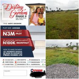 Residential Land Land for sale Destiny Gardens  Free Trade Zone Ibeju-Lekki Lagos