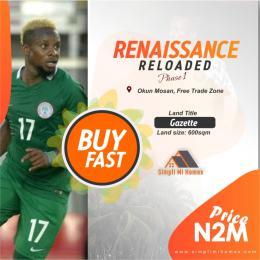Residential Land for sale Renaissance Reloaded Phase 1 Okun Mosan Free Trade Zone Ibeju-Lekki Lagos