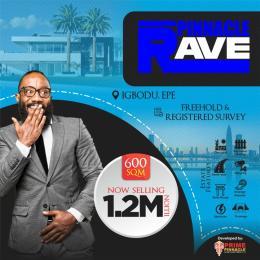 Residential Land for sale Pinnacle Rave Igbodu Epe Lagos