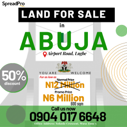 Serviced Residential Land Land for sale Airport Road, Lugbe. Lugbe Abuja