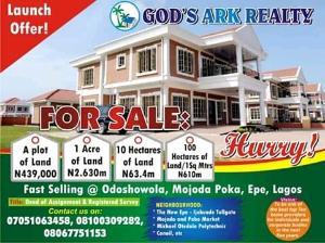 Industrial Land Land for sale Farmland Odoshowola Town Mojoda Epe Road Epe Lagos