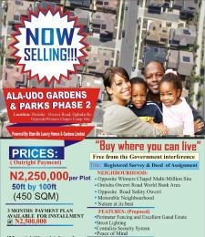 Mixed   Use Land Land for sale Ala Udo Luxury Estate Phase 2 Onitsha Owerri road Ogbaku by Winners Chapel  Owerri Imo