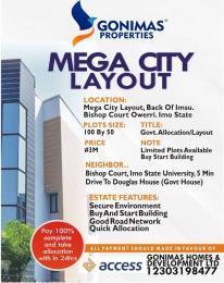 Mixed   Use Land Land for sale Back of Imsu Owerri Imo