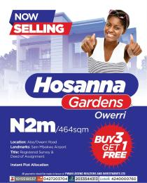 Mixed   Use Land Land for sale Land for Sale in Hossana Gardens Aba/Owerri road Owerri Imo state Owerri Imo