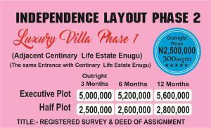 Serviced Residential Land Land for sale behind adjacent centinary life estate enugu Ezeagu Enugu