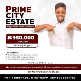 Residential Land Land for sale Prime City Estate Buy And Build Isiagu Awka South Anambra