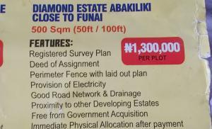 Mixed   Use Land Land for sale Diamond estate abakiliki close to funai,Ebonyi state Abakaliki Ebonyi