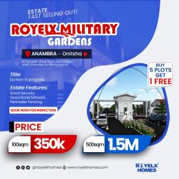 Residential Land Land for sale Royelx military gardens Anambra onitsha 4minutes drive from electronics and 1 minute to army points. Onitsha North Anambra