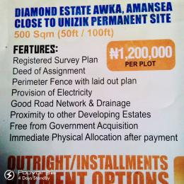 Serviced Residential Land Land for sale Amansea Close To Unizik Permanent Site  Awka North Anambra
