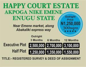 Residential Land Land for sale Along abakaliki express way Udi Agwu Enugu
